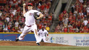 Homer Bailey of the Cincinnati Reds during the no-hitter he pitched Tuesday.