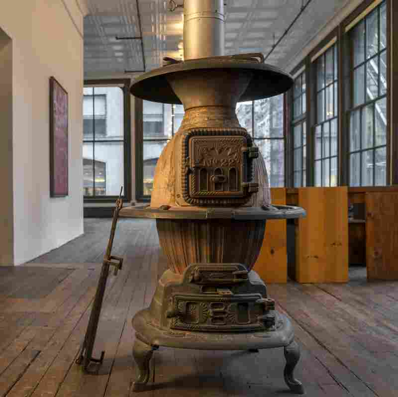 The potbellied stove on the second floor was once the only source of heat. (101 Spring Street, New York, 2nd Floor, 2013.)
