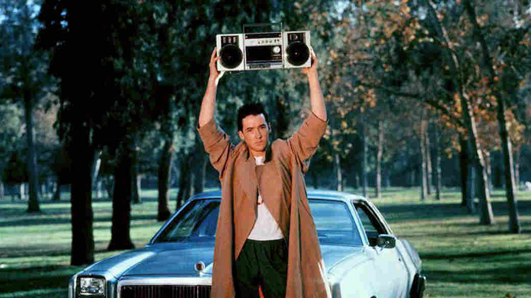 Say what you will about Jon Cusack in Say Anything..., but the man knew how to incorporate music into his romantic gesture.