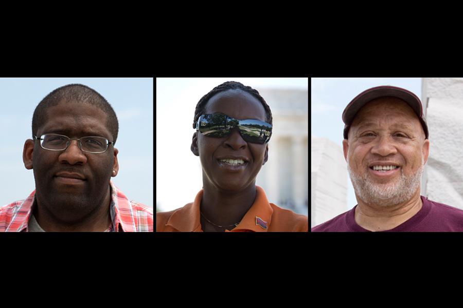 Corey Armstrong, Louisville, Ky.; Charmaine Martin, Trinidad and Tobago; Joseph Smith, Alexandria, Va.