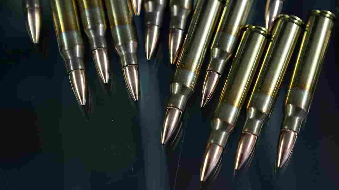 Since the Newtown school shooting in December, gun stores nationwide have had difficulty keeping ammunition, like these .223-caliber rifle bullets, in stock.