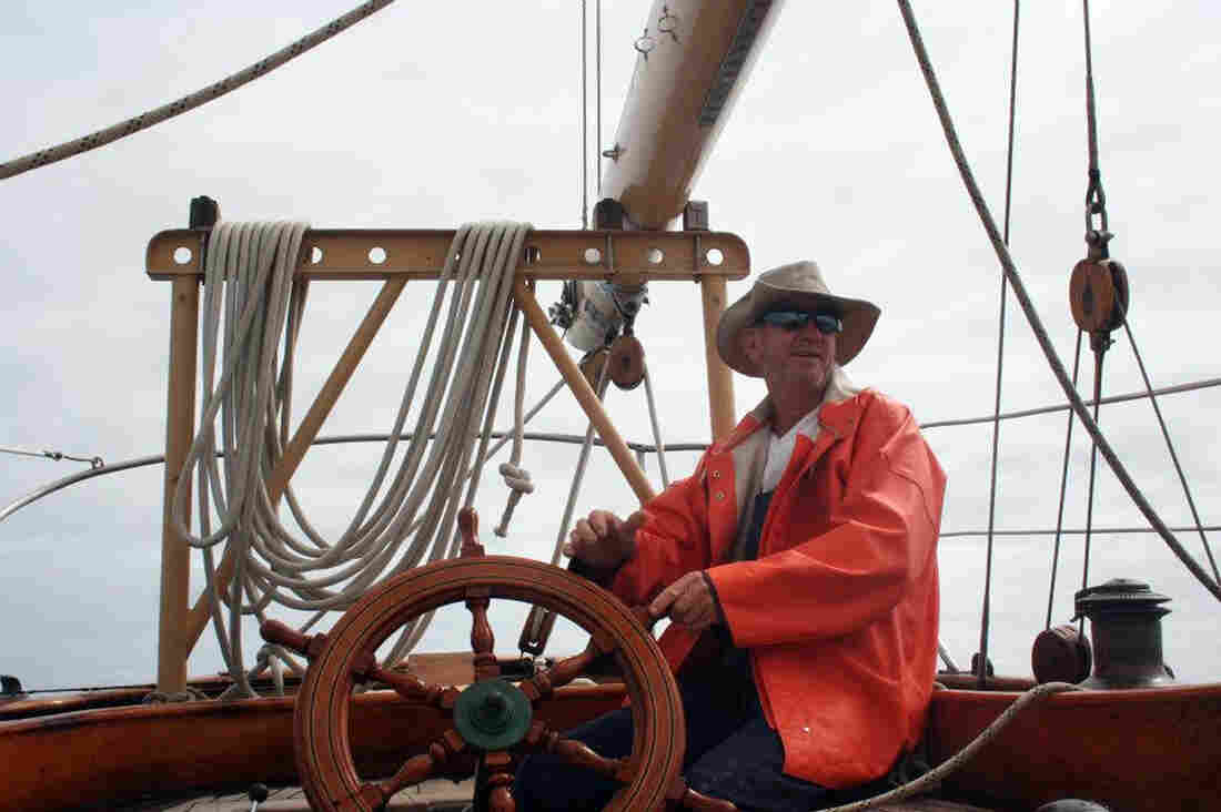 This undated photo provided by the St. Andrews Historic Seaport and Commercial Marina in Panama City, Fla., shows American David Dyche, skipper of the 70-foot (21-meter) vessel Nina.