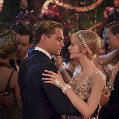 Leonard DiCaprio as Gatsby and Carey Mulligan as Daisy star in Baz Luhrmann's new interpretation of F. Scott Fitzgerald's 1925 novel, The Great Gatsby.