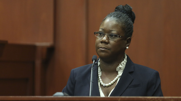 Trayvon Martin's mother, Sybrina Fulton, testifies Friday in Sanford, Fla. (Getty Images)