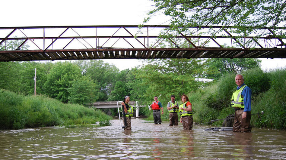 Research teams are monitoring 100 streams in the Midwest this summer. (Harvest Public Media)