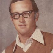 Texas physical education teacher Dale Irby in 1973 -- the first year he wore his now famous sweater and shirt for a school photo.