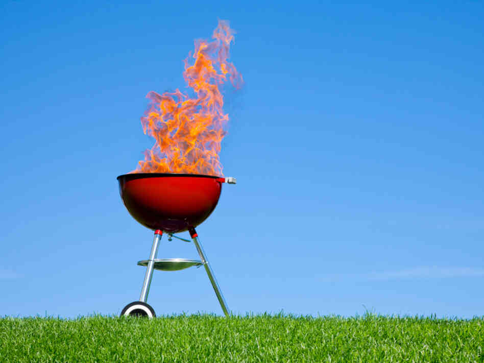 Don't get near that grill with the spray-on sunscreen.