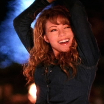 "Mariah Carey in the video for ""Always Be My Baby"" in 1996."