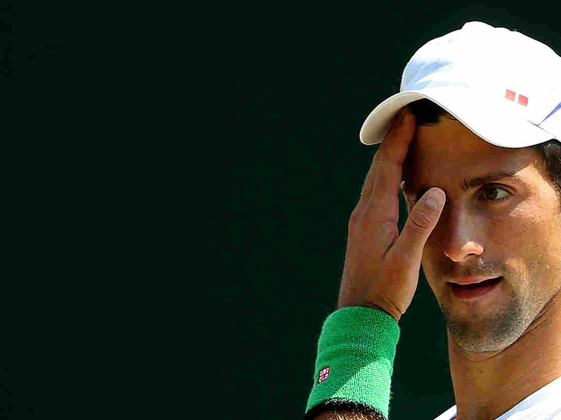 Novak Djokovic at Wimbledon on Saturday in London, England.