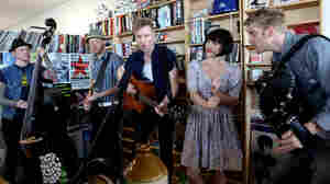 Skinny Lister performs a Tiny Desk Concert.
