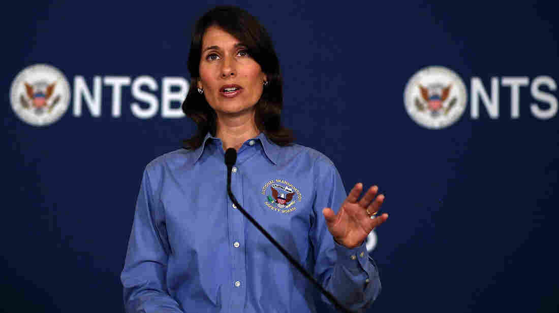 National Transportation Safety Board head Deborah Hersman speaks at a news conference in San Francisco on Monday.