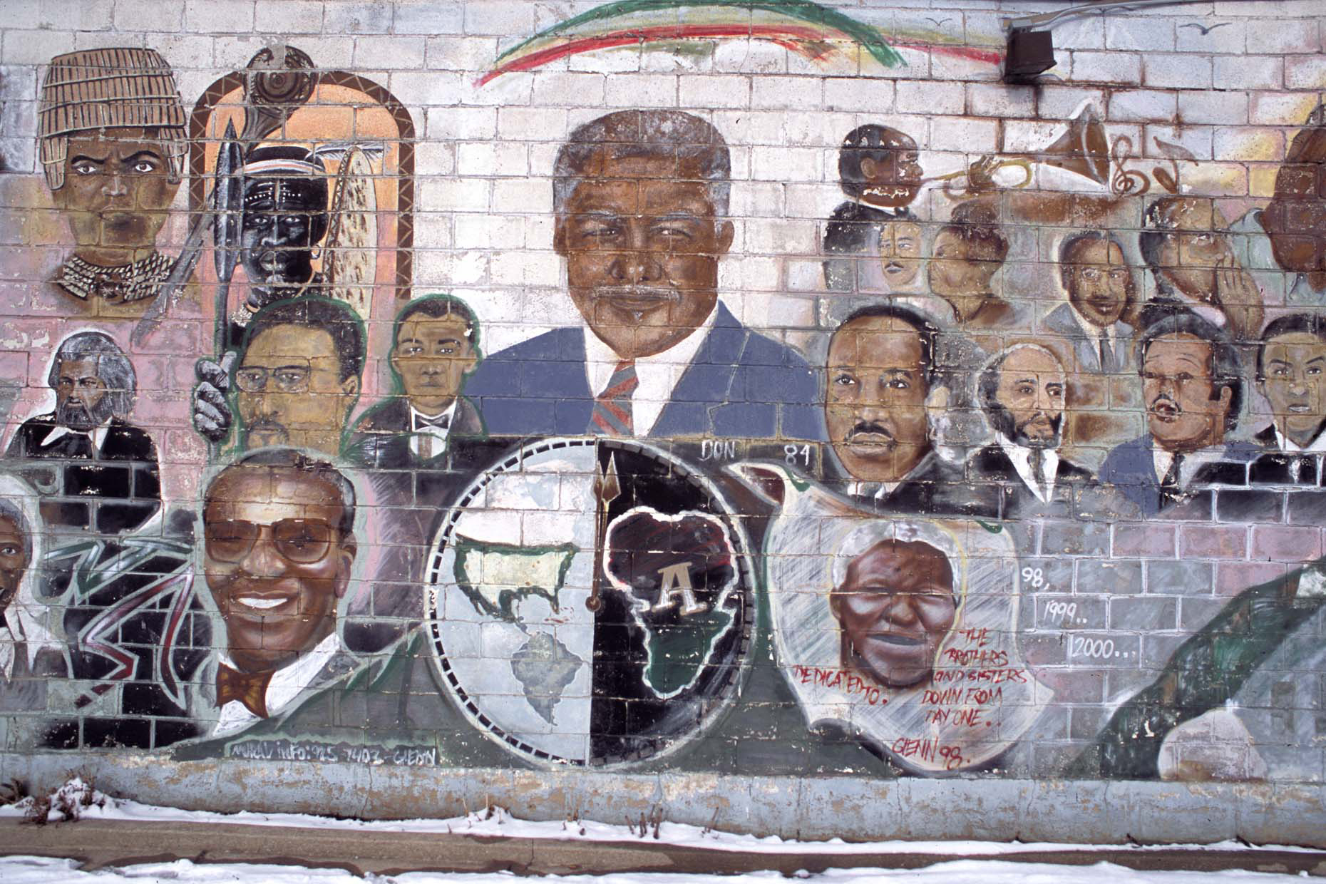 People Of Color, Dedicated To The Brothers And The Sisters From Day One, by Glenn Rock, 1998, W. 100th Street and Halsted, Chicago, 2011
