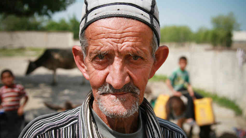 Nazarali Murodov says it takes him two to three hours each day to collect water for his family in the village of Navbahor, Tajikistan.