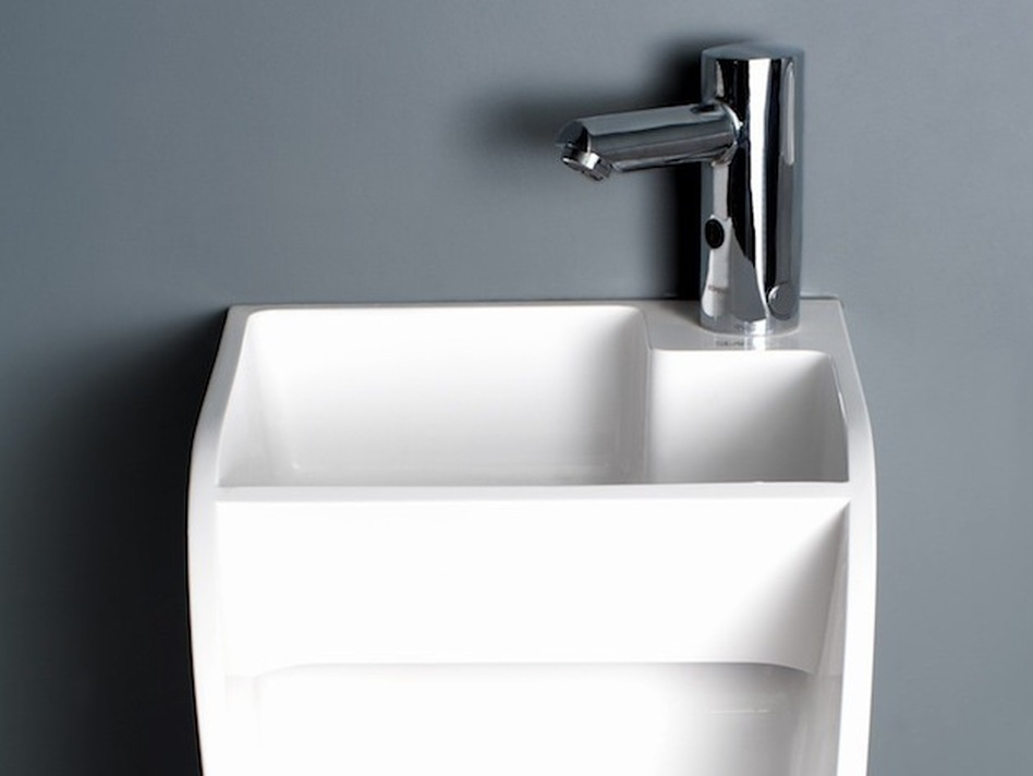 The Stand sink-urinal sells for about $590. (Courtesy of Kaspar Jursons)