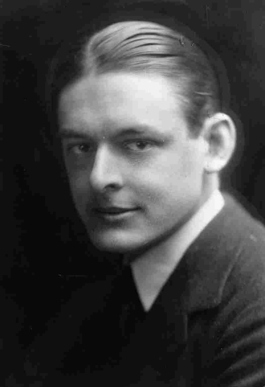 T.S. Eliot (1888 - 1965), winner of the 1948 Nobel Prize in Literature