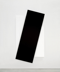 Ellsworth Kelly, Black Diagonal, 2007. Oil on canvas, two joined panels, 103 1/4 x 56 5/8 x 2 3/4 inches. Private collection.