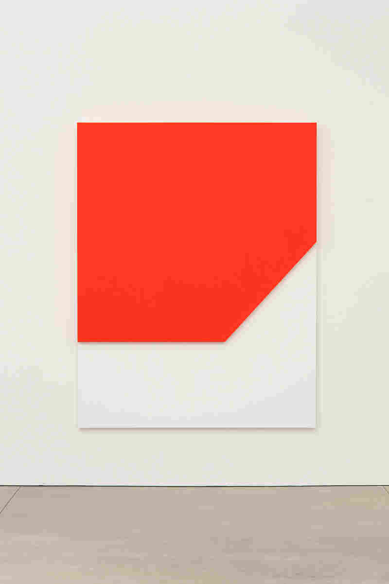 Ellsworth Kelly, Red Relief, 2009. Oil on canvas, two joined panels, 80 x 62 1/2 x 2 5/8 inches. Private collection.