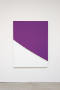 Ellsworth Kelly, Purple Curve in Relief, 2009. Oil on canvas, two joined panels, 70 x 52 3/8 x 2 5/8 inches. Private collection.