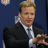 NFL Commissioner Roger Goodell speaks during a news conference at the NFL football spring meetings in Boston two months ago. Can he save our American sport from becoming a gladiator game?
