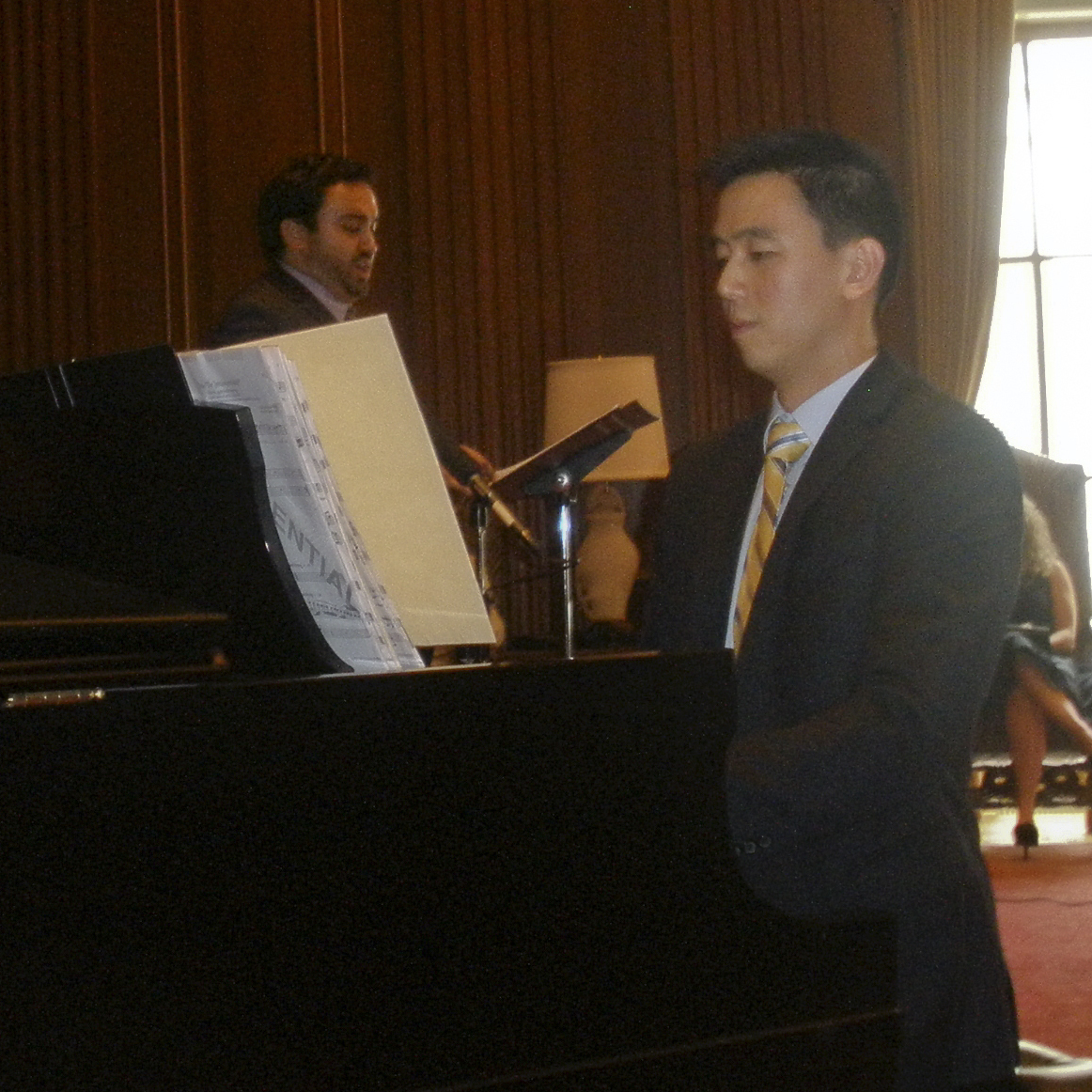 Derrick Wang, pianist and composer, and Peter Scott Drackley, tenor, perform a preview of the opera Scalia/Ginsburg.
