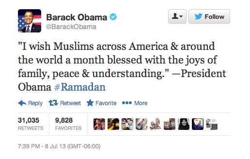 President Obama's Ramadan blessing.