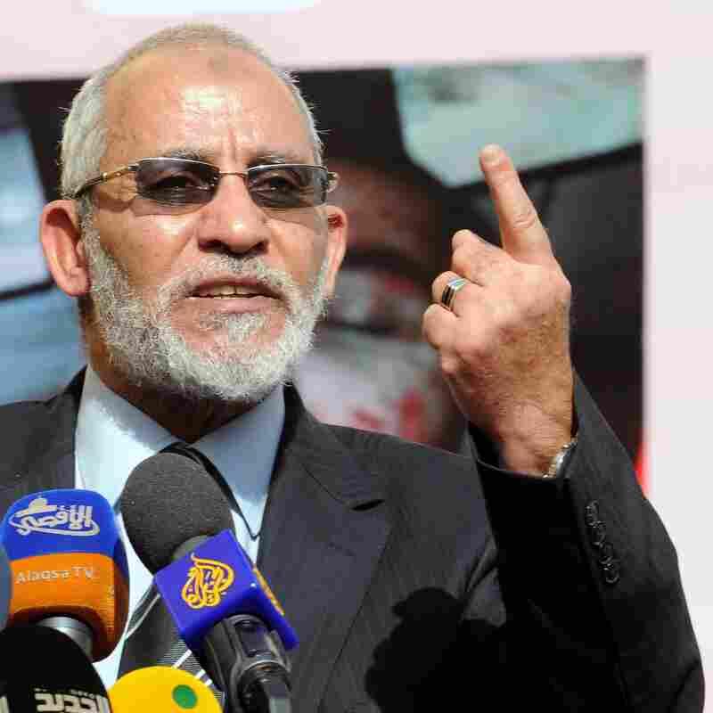Muslim Brotherhood leader Mohammed Badie in Cairo last December.