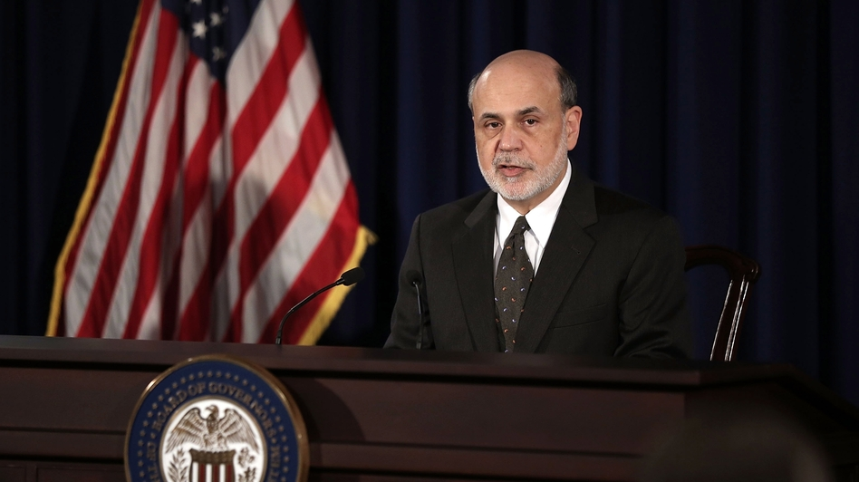 Federal Reserve Chairman Ben Bernanke during a news conference in June. Financial markets reacted to comments he made then by selling off bonds and stocks.