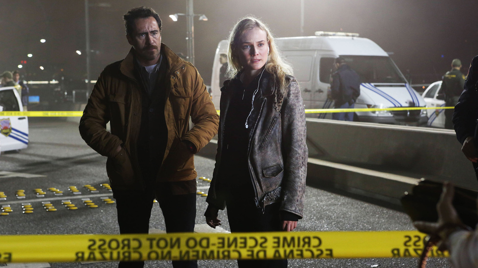Mexican homicide detective Marco Ruiz (played by Demián Bichir) must work with his American counterpart, Sonya Cross (Diane Kruger), to solve a murder on the U.S.-Mexico border in FX's new series The Bridge. (FX  Network)