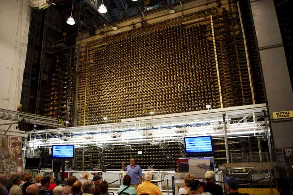 "The B Reactor is the world's first full-scale nuclear reactor located at the Hanford site in Richland, Wash. The three-story-high block of graphite contains about 2,000 ""process tubes"" arranged in a grid. These tubes contained uranium, and when enough uranium was brought together, a chain reaction of neutrons turned some of it into pluto"