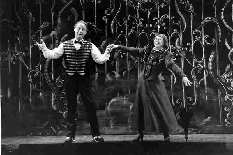 Caesar and Imogene Coca practice their soft shoe routine during a dress rehearsal in Boston in 1982 for the Boston Opera Company's production Orpheus. The pair had worked together since the 1950s on Your Show of Shows.
