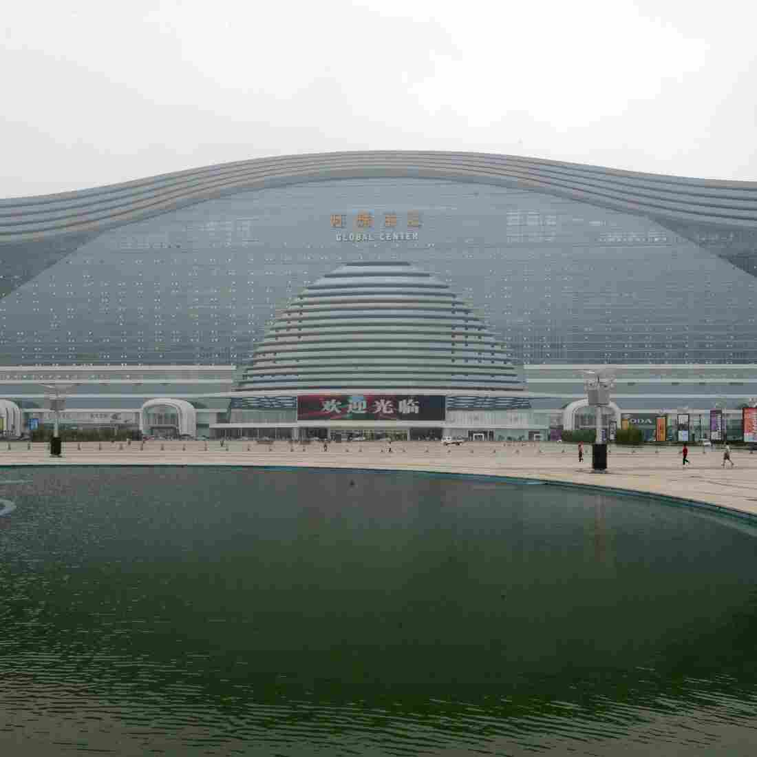 China Unveils Massive Building — With Fake Beach, Fake Sun