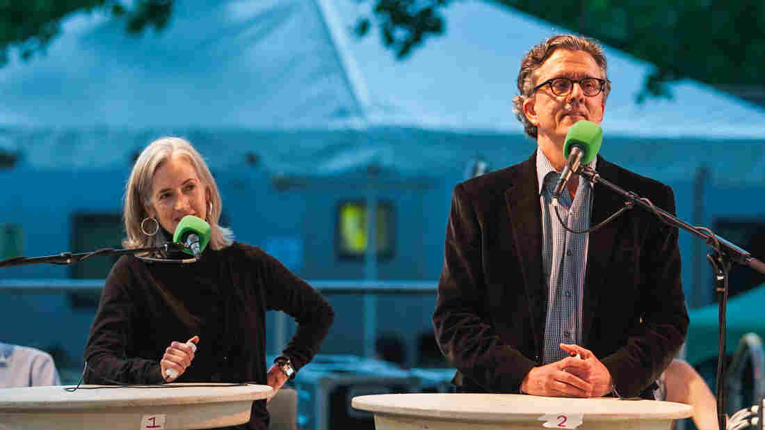 Kurt Andersen and his wife, Anne Kreamer joined Ask Me Another at Central Park's SummerStage