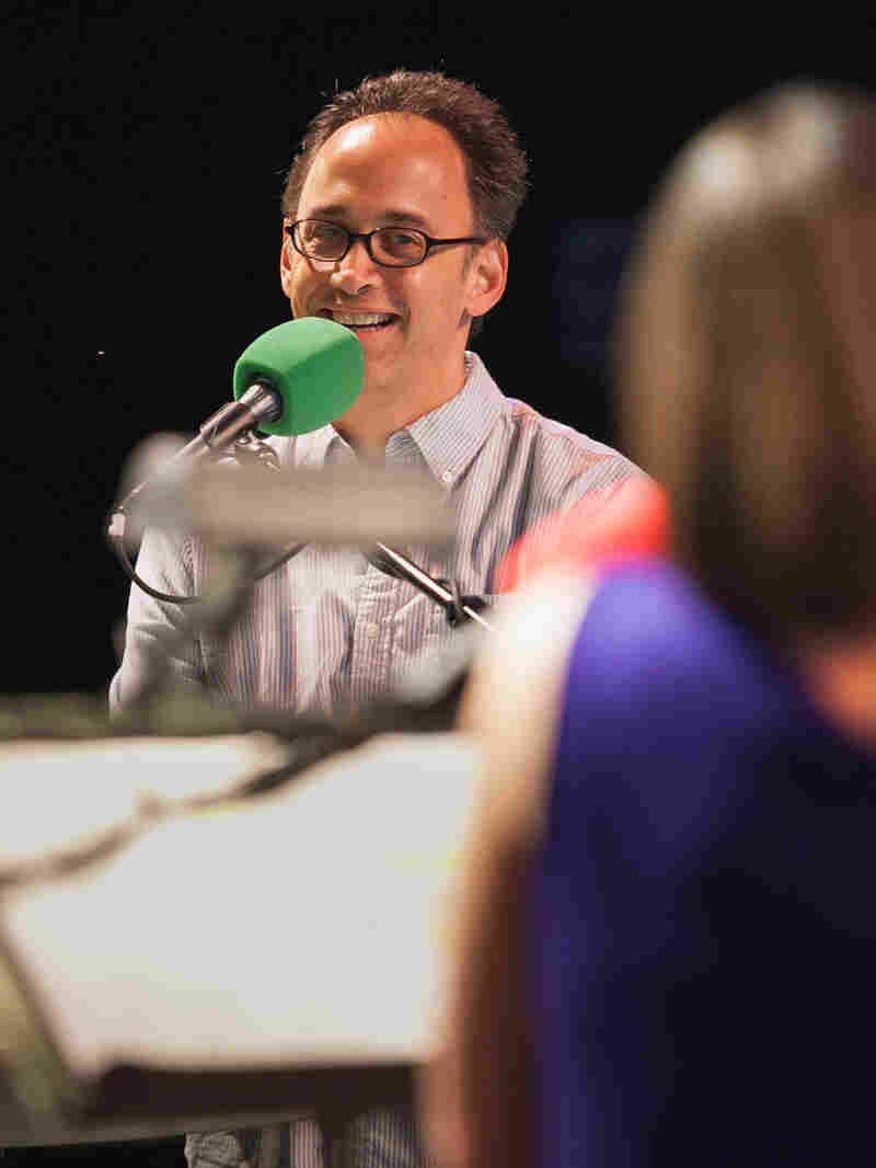 David Wain joined Ask Me Another at Central Park's SummerStage.