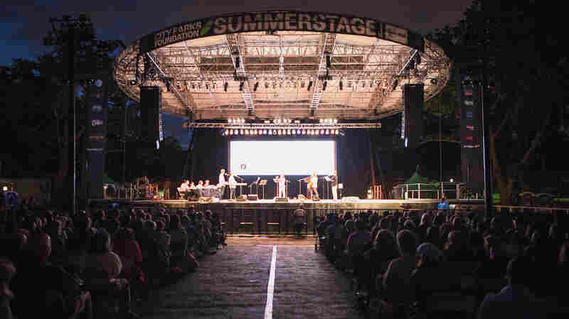 SummerStage at Central Park, on a lovely summer evening, with the scent of trivia and puzzles in the air.
