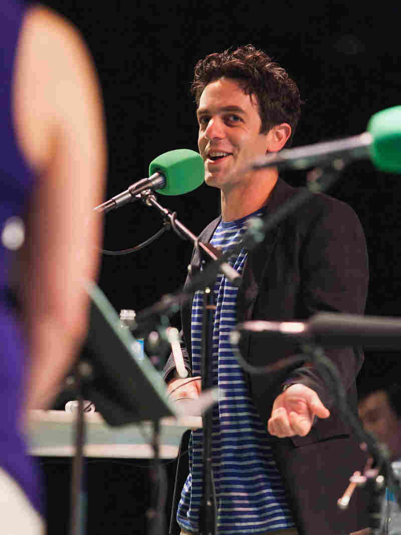 B.J. Novak joined Ask Me Another at Central Park's SummerStage.