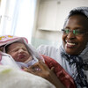 A midwife holds a newborn at Rabia Balkhi Women's Hospital in Kabul, Afghanistan.