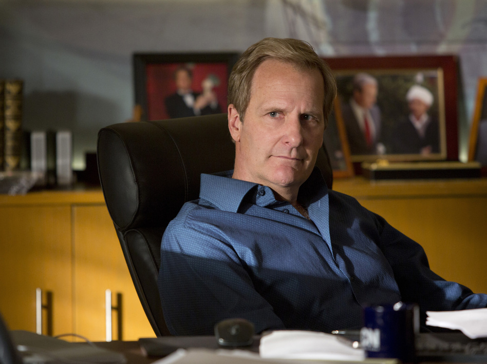 Jeff Daniels returns to Aaron Sorkin's HBO series The Newsroom as cable news anchor Will McAvoy. ( HBO)