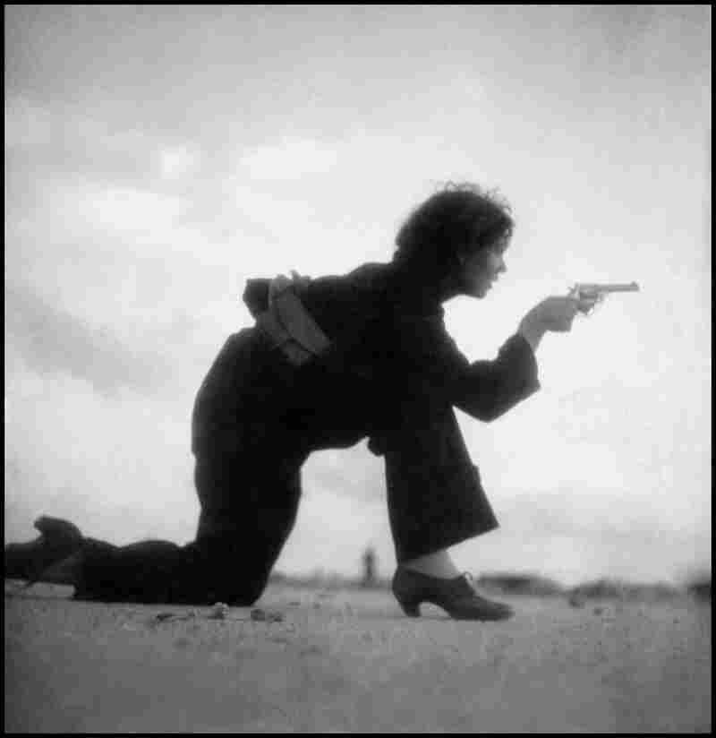 Training on the beach outside Barcelona, Spain, 1936