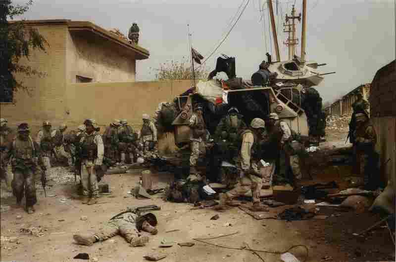Death of a Marine at Dyala Bridge, near Baghdad, Iraq, 2003