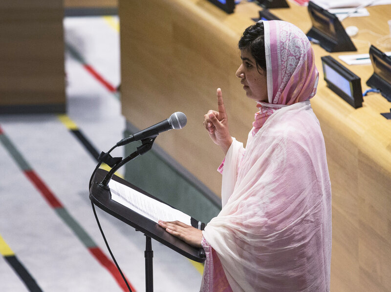 Pakistani Schoolgirl Wounded In Taliban Attack Addresses U N  : The