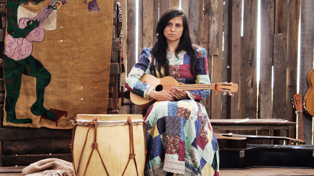 Francisca Gavilán plays the Chilean musician and visual artist Violeta Parra in the film Violeta Went to Heaven. (Kino Lorber, Inc.)