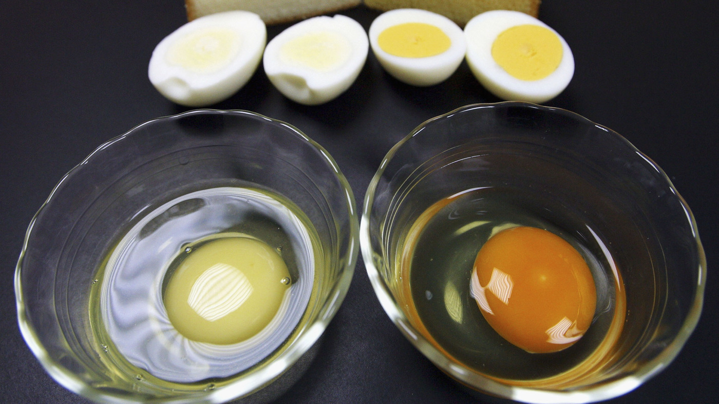 Help! My Egg Yolks Are Freakishly White : The Salt : NPR