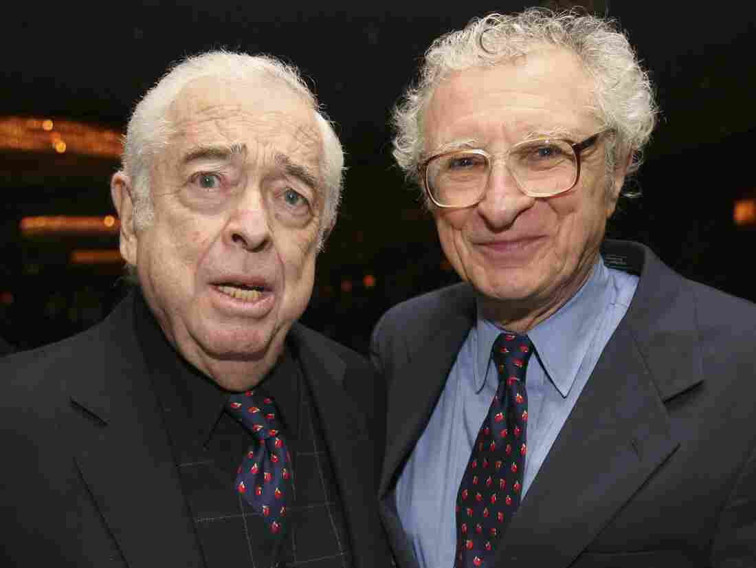 Sheldon Harnick (right) with longtime musical partner and composer Jerry Bock.