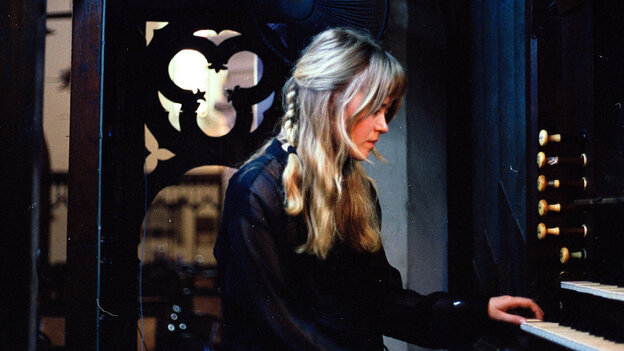 """Swedish musician Anna von Hausswolff says she was drawn to the church organ by its physicality: """"When you play it, you can really feel it because you're sitting close to the pipes. It's almost as if you're becoming a part of the instrument."""""""