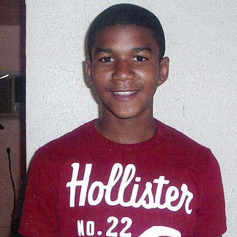 Trayvon Martin as a young boy. On Friday, Gawker published an image, previously circulated by MSNBC, of Martin's body taken shortly after he was shot and killed.