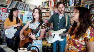 Dana Falconberry performs a Tiny Desk Concert at NPR Music in Washington, D.C., on May 12, 2013.