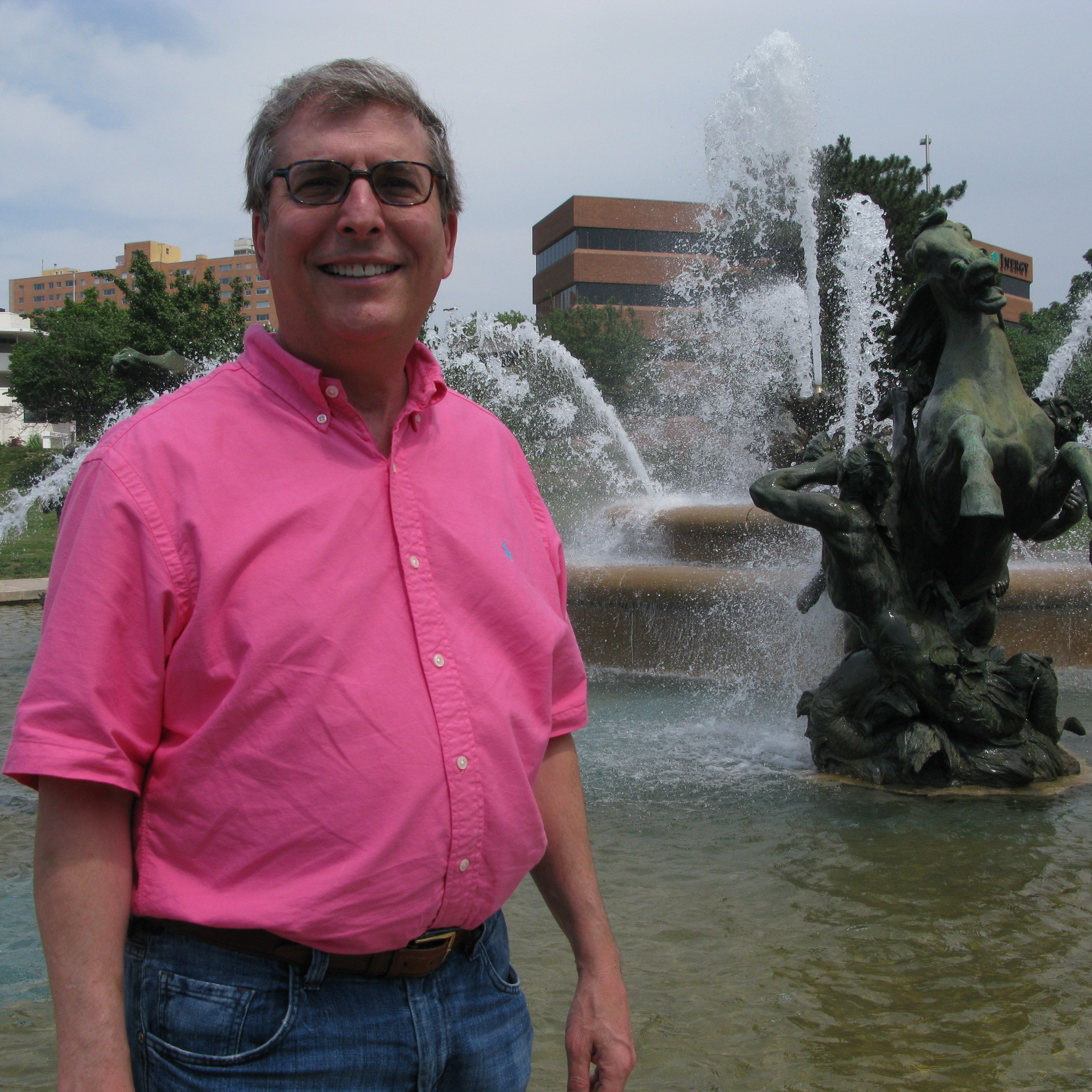 The J.C. Nichols Memorial Fountain -- a familiar landmark in Kansas City, Mo. -- is a popular meeting place for Goldman's characters. The author's family has lived in Kansas City, Mo., for four generations.