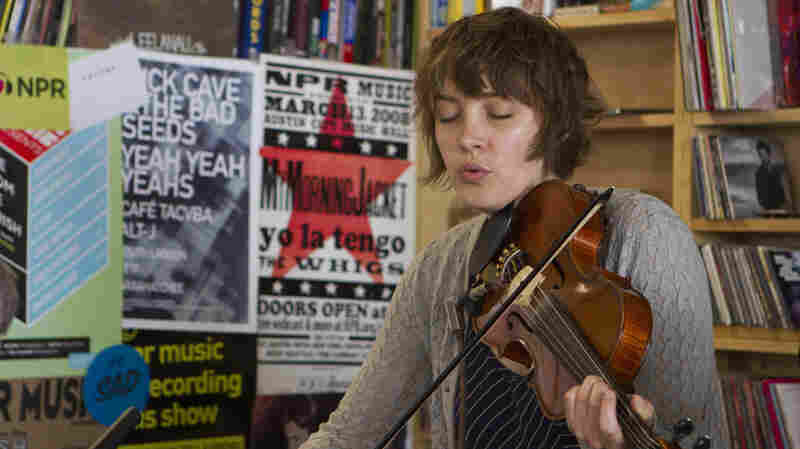 Cheyenne Mize performs a Tiny Desk Concert on May 16, 2013.