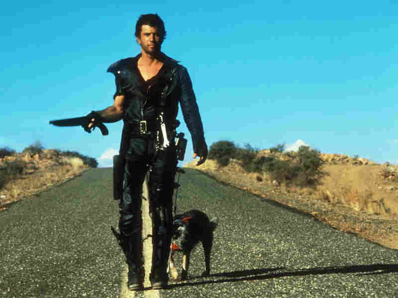 We see a fictional universe stripped of the most basic resources when Mel Gibson's character relishes a can of dog food in Road Warrior.