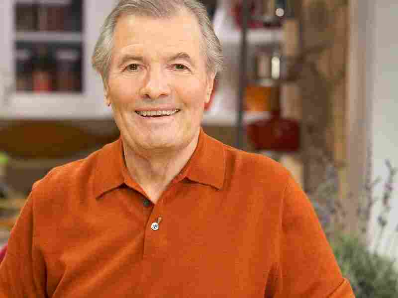Chef Jacques Pepin on the set of his show More Fast Food My Way.